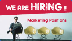We are Hiring - Marketing Positions